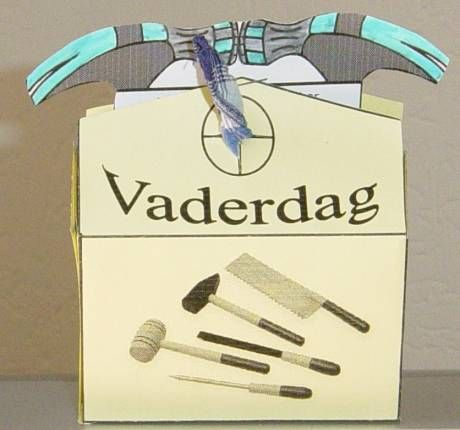 Gereedschapskist voor vaderdag. Vaderdag www.gelovenisleuk.nl