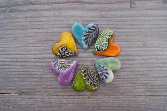 Little and stylish heart brooch, heart pin, perfect gift idea, Green heart, Purple heart, Yellow heart, Turquoise heart, Orange heart, green heart, yellow heart