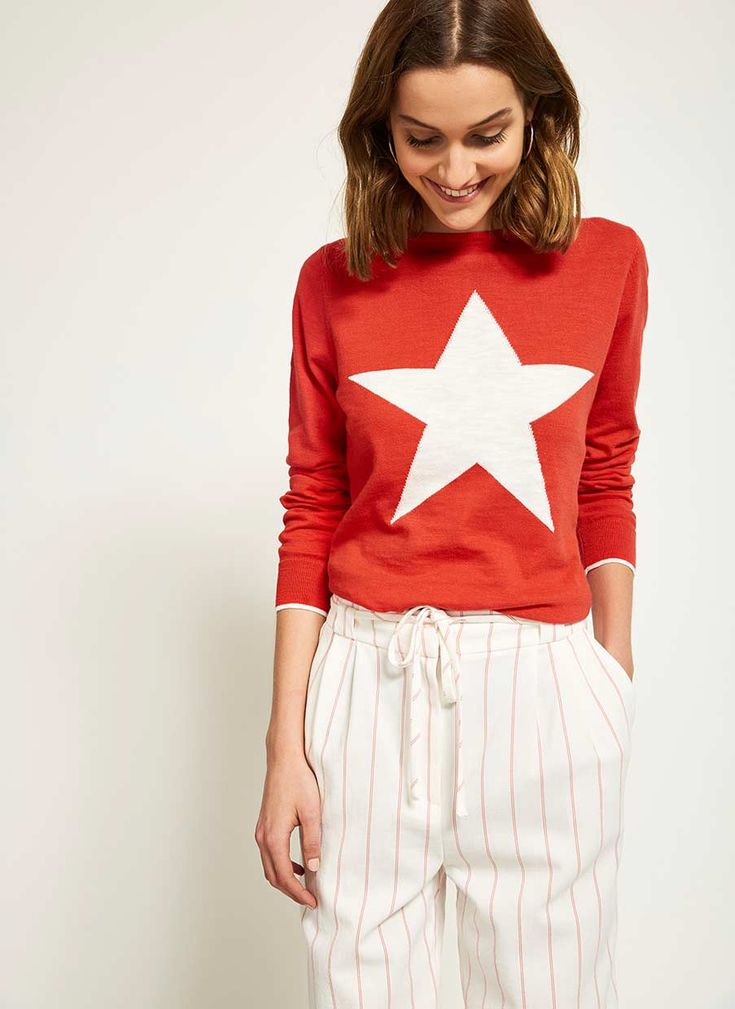 TOMATO STAR CREW NECK KNIT | Mint Velvet
