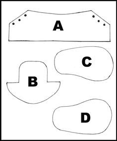 printable template and tutorial on How to make baby shoes • CakeJournal.com can be resize to photoshop depending on how big or small you want your final shoes to be.