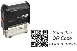 Create a QR Code Rubber Stamp at Discount Rubber Stamps for your marketing efforts or to engage and network with others.  Discounted pricing...