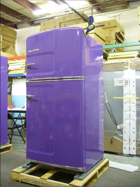 weu0027ve released a retrostyle fridge in purple bring some color into your