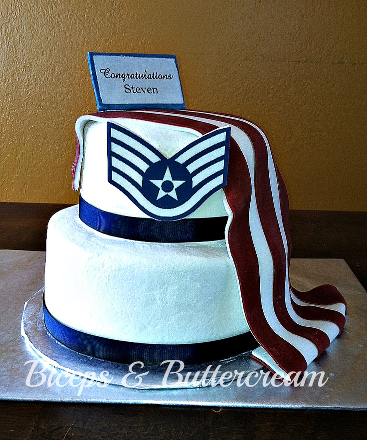 Air force staff sergeant promotion cake party ideas for Air force cakes decoration