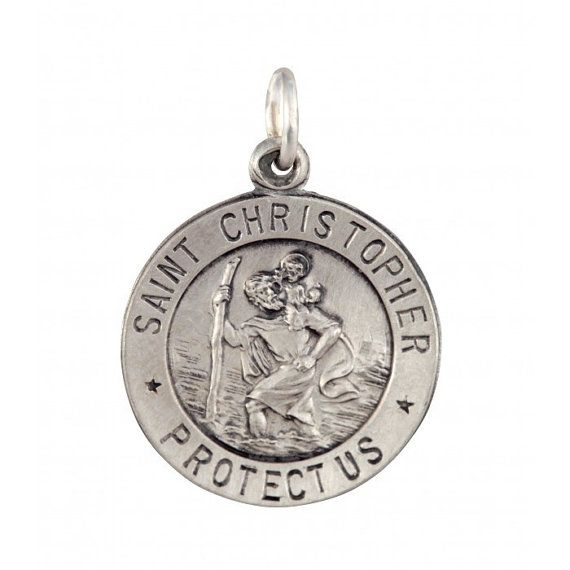 Sterling Silver Small Saint Christopher Pendant