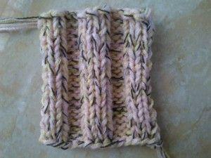 Motif ribbing knitting 3 x 3  http://www.BelajarCaraMerajut.com
