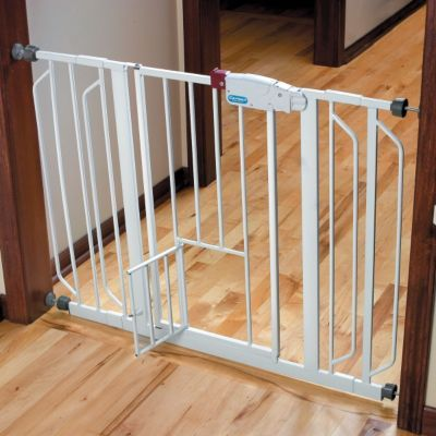 Extra tall and extra wide Pet Gates with Small Door-Walk-Through Pet Gate
