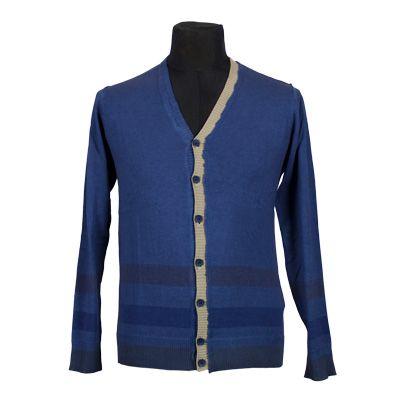 Maglia - NEROVAGO - Maglia in puro cotone manica lunga - Blu - Estivo. € 24,50. #hallofbrands #hob #maglia #sweater #jersey #knitwear