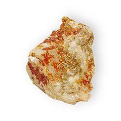 La jarosita, piedra de alumbre o almagra es un mineral del grupo VI (Sulfatos), según la clasificación de Strunz. Es un sulfato de potasio y hierro hidratado básico, cuya fórmula química es KFe33+(SO4)2(OH)6 De color amarillo ocre, fácilmente se confunde con la limonita o con la goethita. De color rojo vivo al cristalizar.