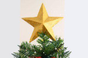 estrellas arbol de navidad hecha en casa