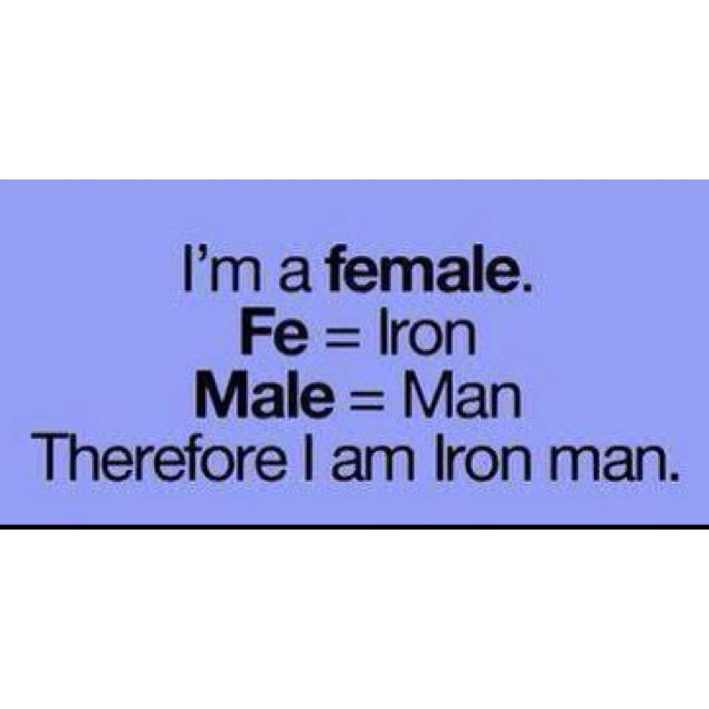 Iron man. I resonate with this :-)