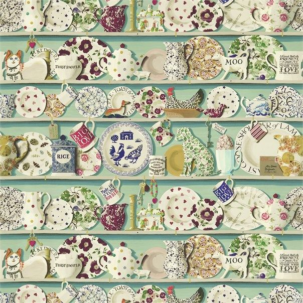 OMG I need this paper. Emma Bridgewater for Sanderson Wallpapers.
