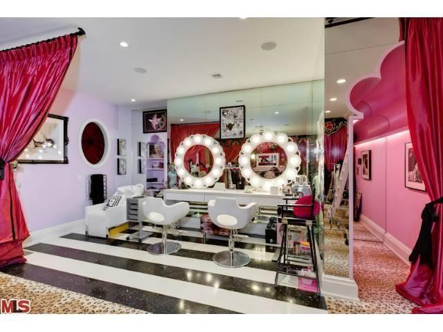 Amazing Christina Aguilerau0027s Pink Closet Salon   Hooked On Houses