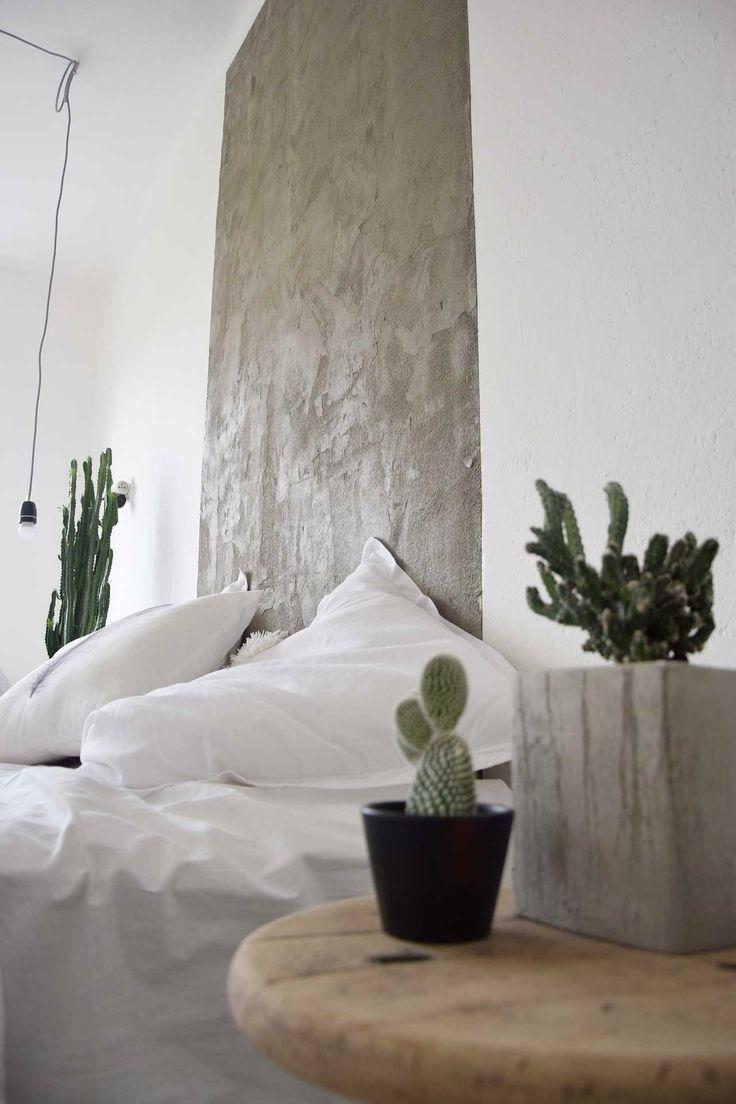 DIY pohledový beton na zdi - návod najdete na blogu o bydlení tamarki.cz