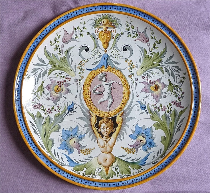 GINORI LARGE PLATE ITALIAN MAJOLICA