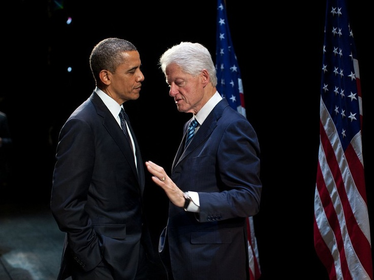 The president with former President Bill Clinton. :)