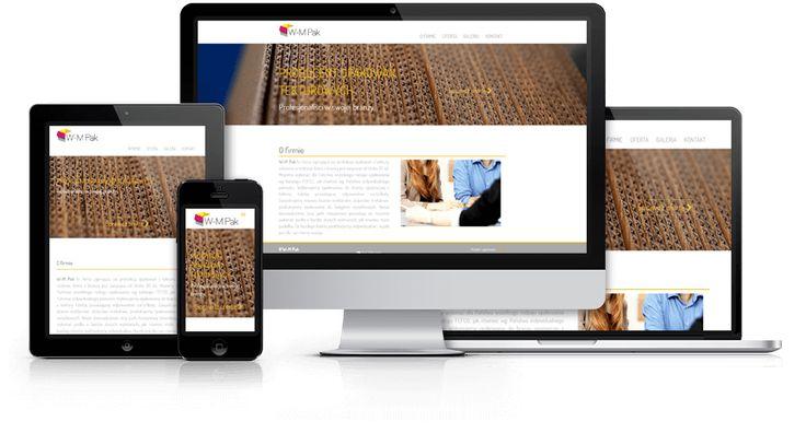 Responsywna strona internetowa zaprojektowana i wykonana przez WiWi dla W-M-Pak, producenta opakowań z tektury #responsive #design #webdesign #inspiration #Responsive #Web #layout