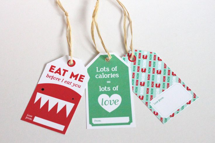 Printable food gift tags by www.tamiko.ca