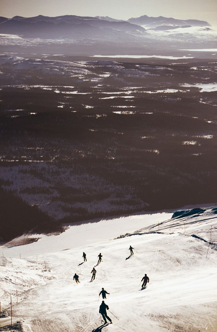 Skiing in Åre, Sweden