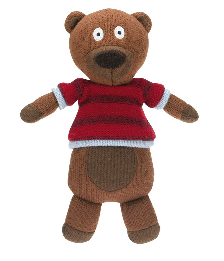 Théodore l'ourse des personnages de la Wooly Family par Latitude Enfant. Jouet ludique. Doudou d'éveil. Produit de puériculture.