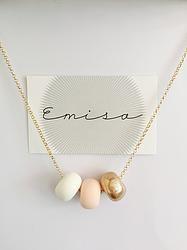 Gold Necklace // 3 Bead Combo - Emisa
