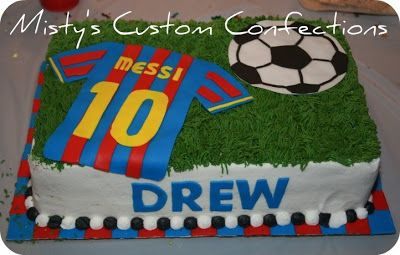 lionel messi birthday cake....maybe in the Colors of the Argentine jersey instead of the Barça colors.