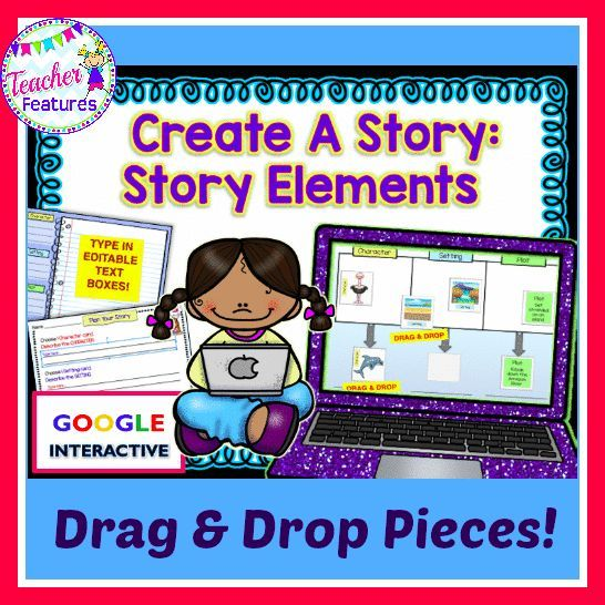 This No Prep Google Drive activity allows your students to Drag & Drop the movable pieces to create a story outline. The Character, Setting and Plot cards offer a visual way to mix the story elements. Students plan their stories out and type in the editable text boxes. Perfect for Google Classroom, 1:1 or infusing technology into your room.