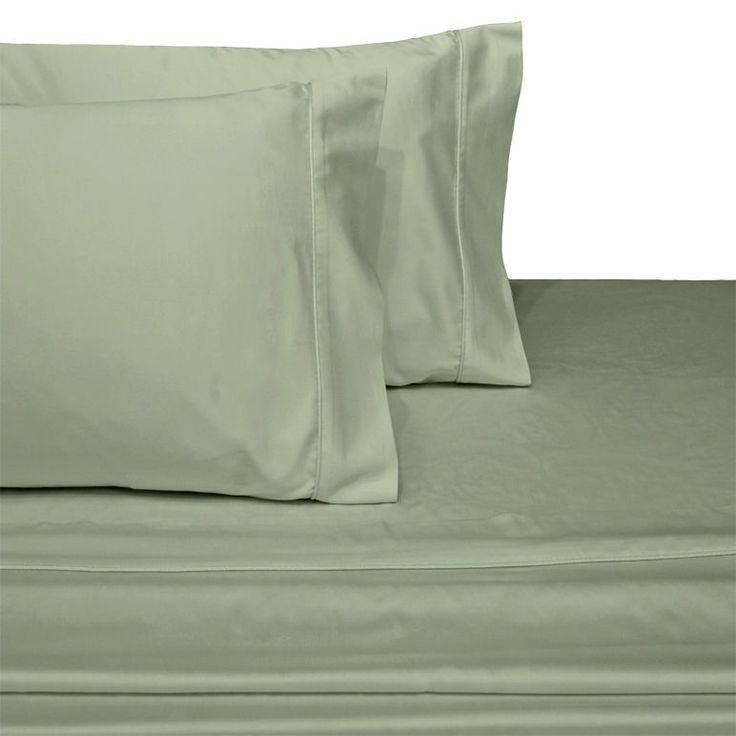 split king best luxury bed sheets 5 pc solid sage 300 tc 100 cotton