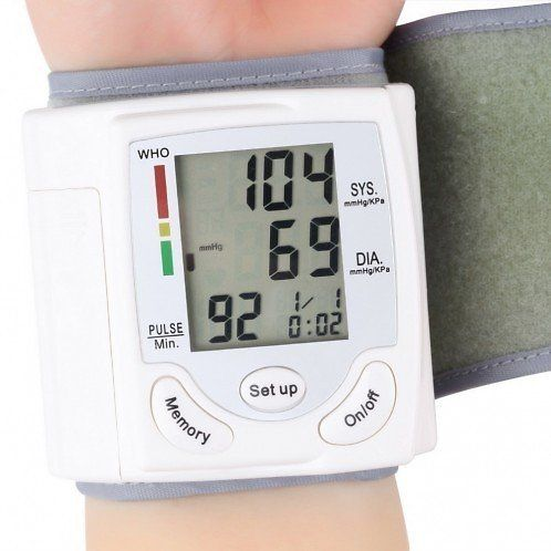 Automatic Digital Wrist Cuff Blood Pressure Monitor