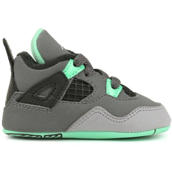 JORDAN RETRO 4 NEWBORNS SNEAKERS ($45) ❤ liked on Polyvore featuring shoes, babies, jordans, baby stuff and baby shoes