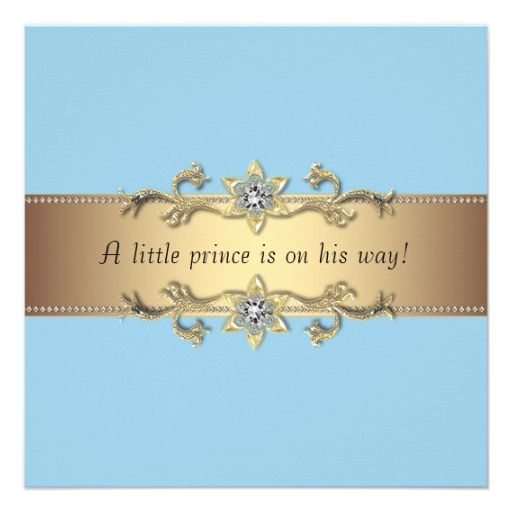 Baby Boy Borders Beautiful Baby Blue And Gold Prince Is