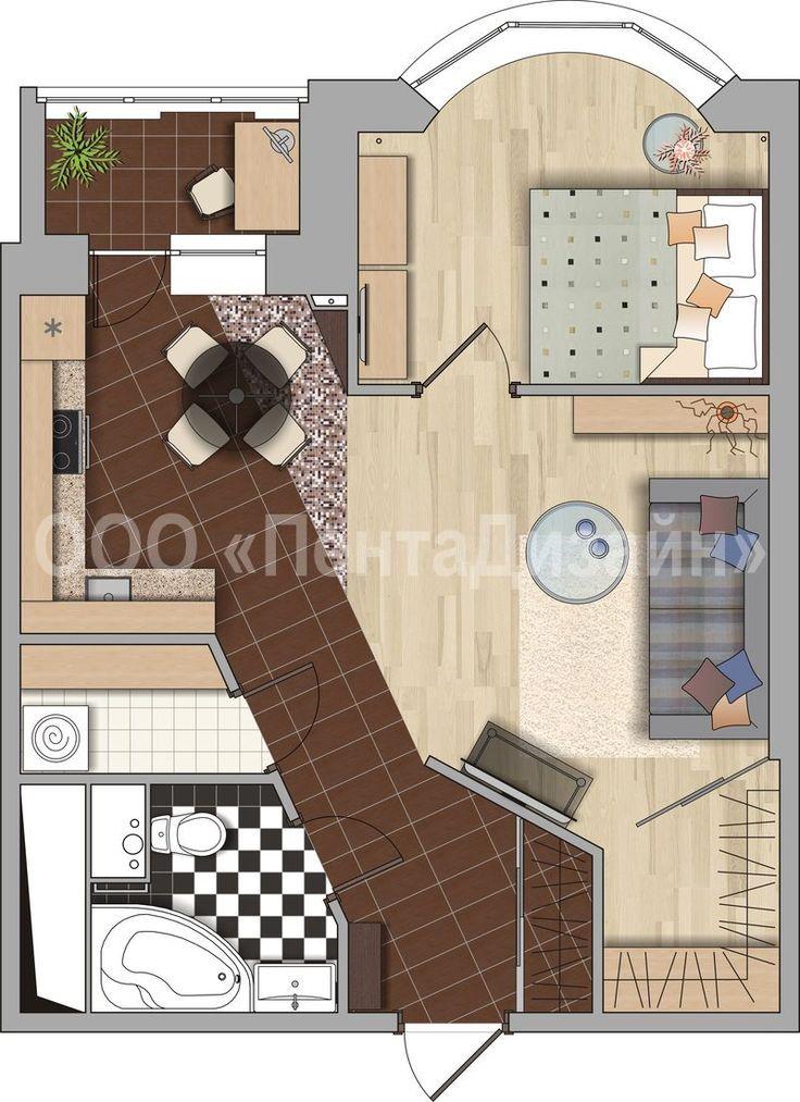 дизайн однокомнатной квартиры с эркером: 26 тыс изображений найдено в Яндекс.Картинках