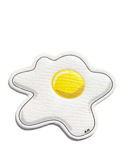 ANYA HINDMARCH Egg Leather Sticker For Handbag. #anyahindmarch #bags #leather #sticker #accessories #