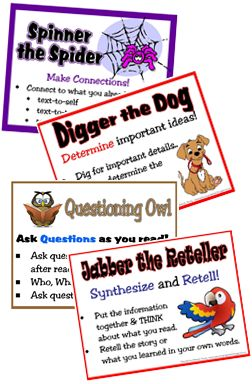 Comprehension Strategy Poster Freebies!