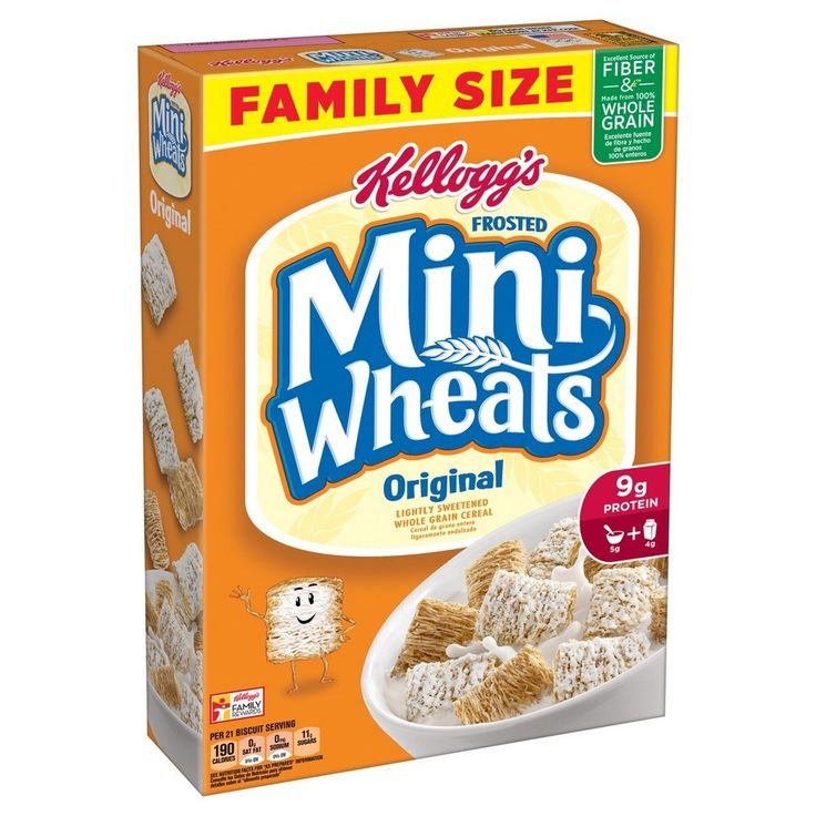 Kellogg's Frosted Mini Wheats Cereal (Today's post contains an affiliate link) Kellogg's Frosted Mini Wheat Cereal offers a tasty, bite-size breakfast. It islightly sweetened, whole-grain Kellogg's cereal, 24 oz., is tasty and nutritious. This Frosted Wheat Cereal will be a hit with kids and adults alike. Kellogg's Frosted Mini Wheat Cereal (bite-size) is available at Target!  Family Size box! 24 ounces  Price: $3.89/box (buy 2) and use this$1.00 off any TWO Kello...
