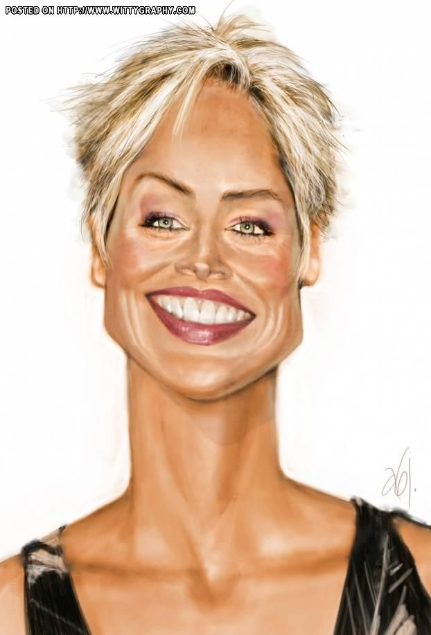 Sharon Stone  (by Abj-Crayon)
