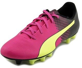Puma Evospeed 5.5 Tricks Fg Jr Soccer Cleats Youth Leather Pink Cleats.