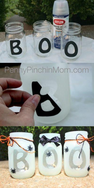 DIY boo halloween lantern | fun Halloween craft