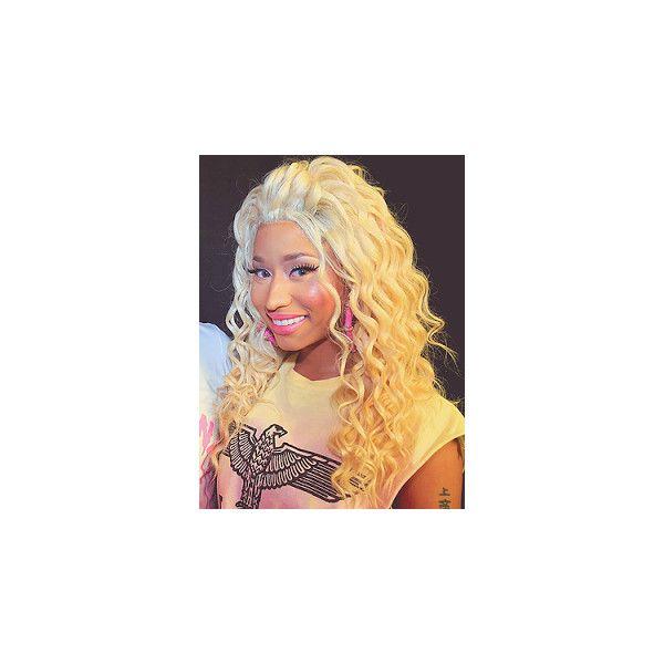Nicki Minaj Blonde Frizzy Hair HollywoodsBeauties ❤ liked on Polyvore