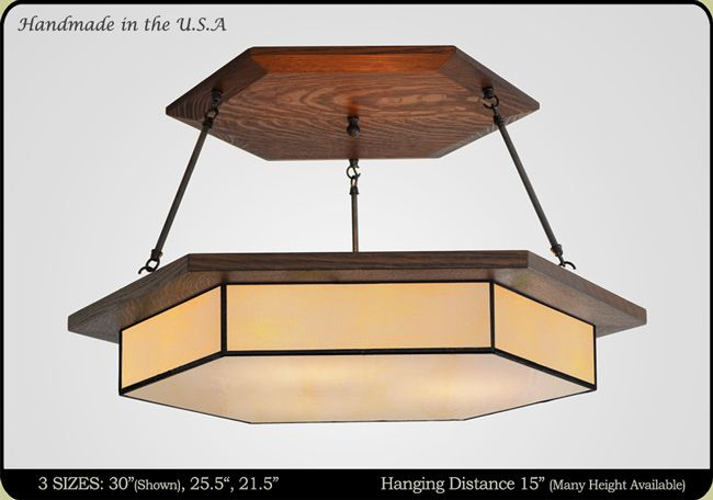 * We can match the wood to the office cabinets Craftsman Chandeliers #454 | Mission Studio