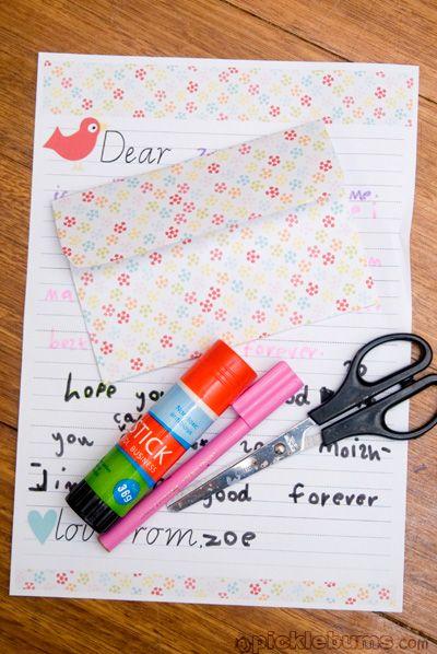 Printable letter writing set
