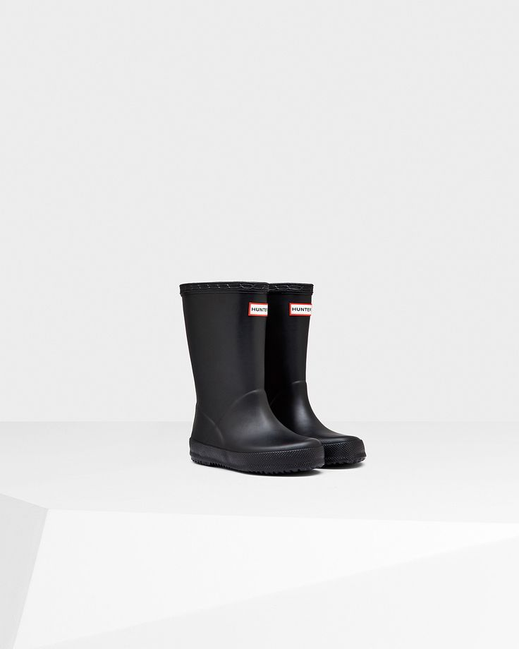 Hunter Boots | Original Kids First Classic Rain Boots | Black