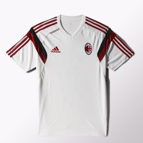 AC Milan Training Jersey - White AC Milan Official Merchandise Available at www.itsmatchday.com