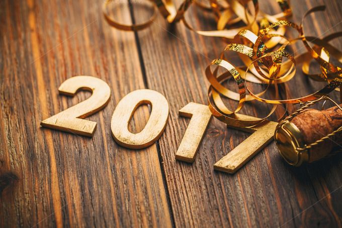 #Happy New Year 2017  Happy New Year 2017 wood number idea