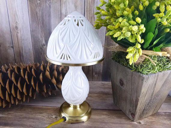 Lenox Creme Porcelain Small Vintage Lamp Quoizel Lenox Lighting Night Light Vintage Lamps Small Table Lamp Lamp