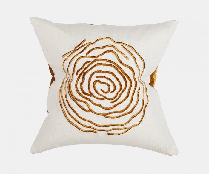 Hortense - Ochre Cushion   William Yeoward