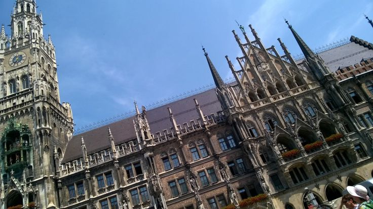 Munich town hall, with its impressive faux gothic facade! #Munich #gothic #architecture