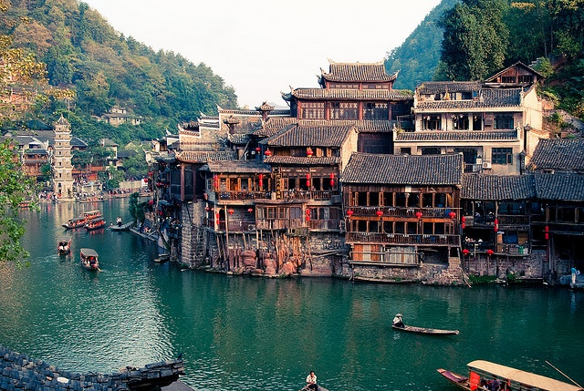 fenghuang, china. The village is beautiful.Fenghuang, Buckets Lists, Exotic Home, China Travel, Hunan Province, Beautiful, Ancient Town, Places, Landscapes Photography