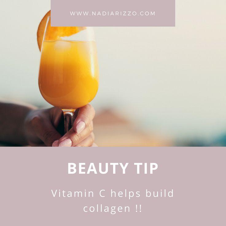 Vitamin C helps build collagen!!  #beautytip #tips #beauty #health #healthyliving