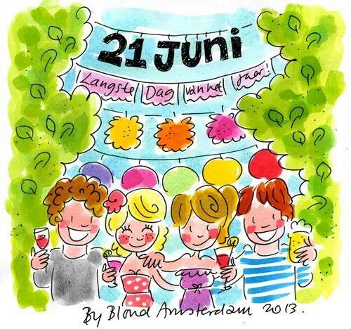 21 juni Langste dag van het jaar! - Blond Amsterdam