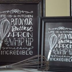 Cute freebie kitchen printable- love the touch of black! Via I Heart Naptime